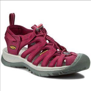 Keen Whisper Burgundy Sport Waterproof Sandal Shoe